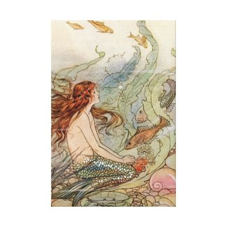 VINTAGE ART POSTER MERMAID PRINT