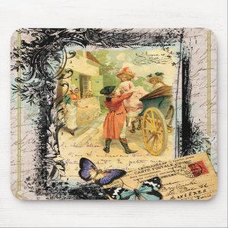 Vintage Art Print 18th Century Couple Mousepad