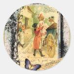 Vintage Art Print 18th Century Couple Sticker