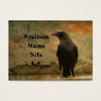 Vintage Art Raven Business Card