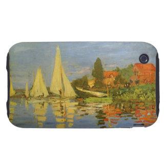 Vintage Art, Regatta at Argenteuil by Claude Monet Tough iPhone 3 Cover