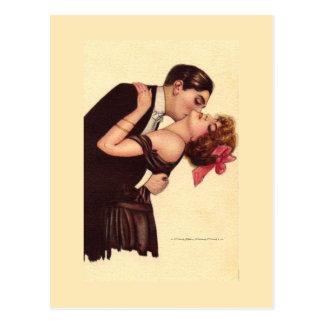 Vintage Art ~ Romantic Enraptured Couple Postcard
