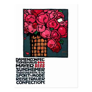 Vintage Art: Roses - Ludwig Hohlwein Postcard