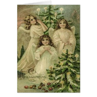 Vintage Art Russian Christmas Angels