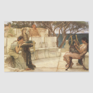 Vintage Art, Sappho and Alcaeus by Alma Tadema Rectangular Sticker
