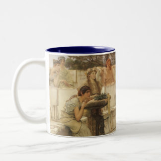 Vintage Art, Sappho and Alcaeus by Alma Tadema Two-Tone Coffee Mug