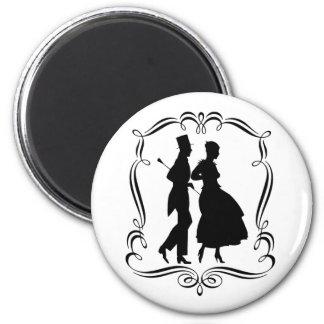 Vintage Art Silhouette Elegant Man Woman Magnet