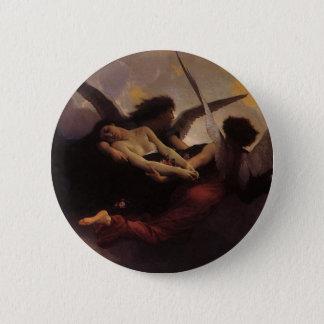 Vintage Art, Soul Brought to Heaven by Bouguereau Button