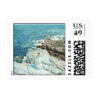 Vintage Art, South Ledges, Appledore by Hassam Stamp