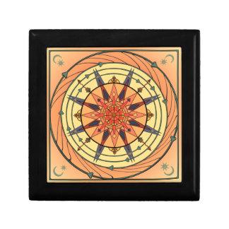 Vintage Art Sun Ceramic Tile Box