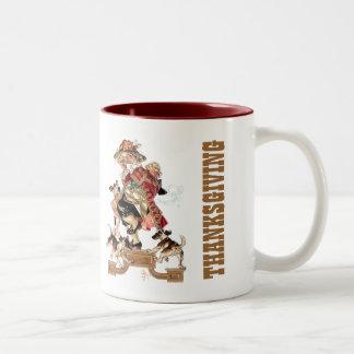 Vintage Art Thanksgiving Gift Mugs