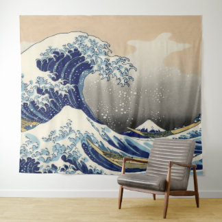 Vintage Art The Great Wave Off Kanagawa Tapestry
