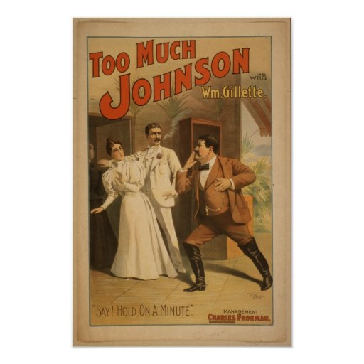 Vintage Art Too Much Johnson  Poster