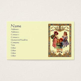 Vintage Art Victorian Children Business Card