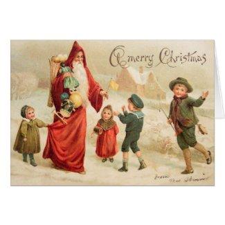 Vintage Art Victorian Christmas Santa Customize it