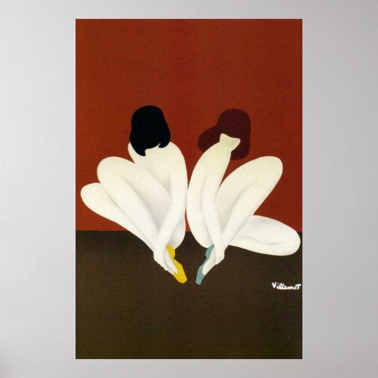 vintage art villemot bally lotus poster print. Black Bedroom Furniture Sets. Home Design Ideas