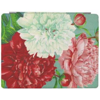 Vintage Art vintage floral Peonies Print iPad Cover