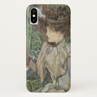 Vintage Art, Woman with Gloves by Toulouse Lautrec iPhone X Case