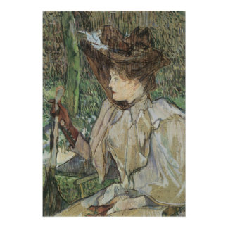 Vintage Art, Woman with Gloves by Toulouse Lautrec Poster