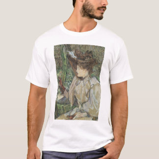 Vintage Art, Woman with Gloves by Toulouse Lautrec T-Shirt