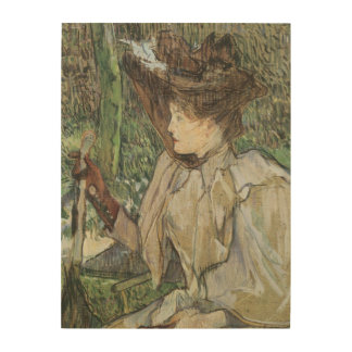 Vintage Art, Woman with Gloves by Toulouse Lautrec Wood Wall Art