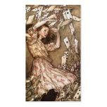 Vintage Arthur Rackham Alice In Wonderland Art Business Card Template