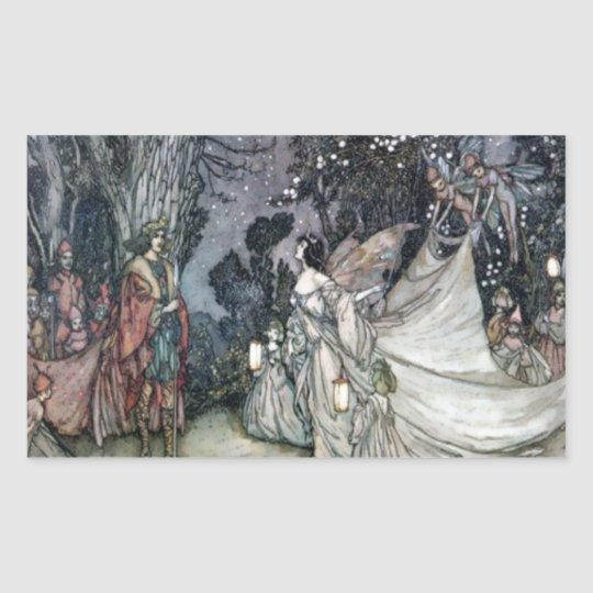 Vintage Arthur Rackham Titania and Oberon Sticker