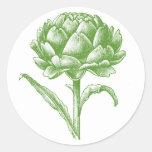 Vintage Artichoke Classic Round Sticker