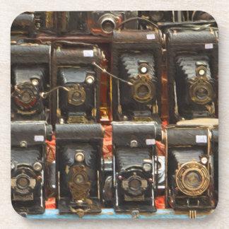 Vintage Artist Cameras Coaster