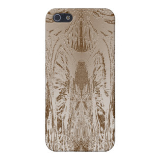 VINTAGE Artist Created Gold Foil Print Cover For iPhone 5