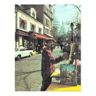 Vintage artista de París, París, de colocado Theat Postal