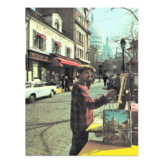 Vintage artista de París, París, de colocado Theat Tarjetas Postales