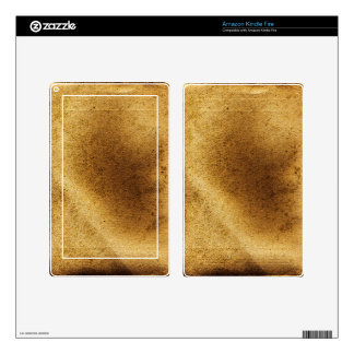 Vintage artistic gold brown distressed canvas kindle fire decal