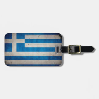 Vintage Artistic Grunge Greece Flag Tags For Bags