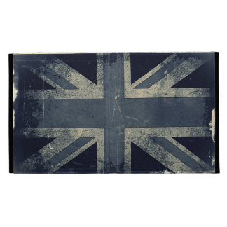Vintage Artistic Grunge UK Flag iPad Folio Covers