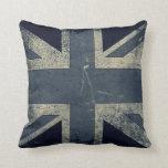 Vintage Artistic Grunge UK Flag Pillow