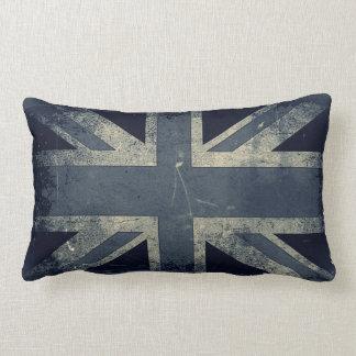 Vintage Artistic Grunge UK Flag Throw Pillow