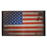 Vintage Artistic Grunge USA Flag iPad Folio Cases