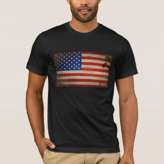 Vintage Artistic Grunge USA Flag T-Shirt