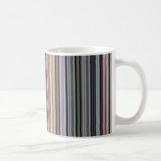 Vintage artistic stripes pattern coffee mug