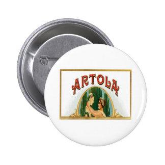 Vintage Artola Cigar Label Art Pin