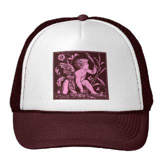 Vintage artwork of Cupid on chocolate background Trucker Hat