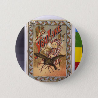 "Vintage ""As You Like It"" Pinback Button"