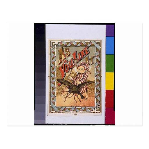 "Vintage ""As You Like It"" Postcard"