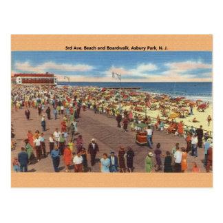 Vintage Asbury Park New Jersey Beach Postcard