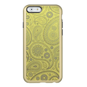 Vintage Ash white paisley on yellow background Incipio Feather Shine iPhone 6 Case
