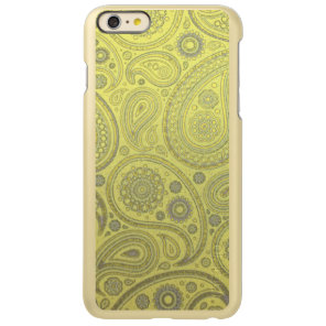 Vintage Ash white paisley on yellow background Incipio Feather Shine iPhone 6 Plus Case