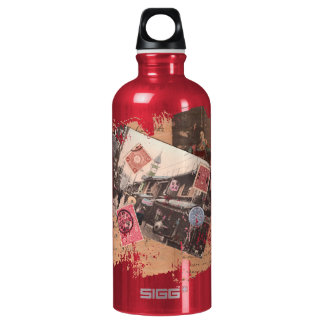 Vintage Asia Aluminum Water Bottle