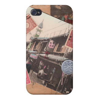 Vintage Asia iPhone 4 Protectores