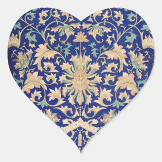 Vintage Asian Art Heart Sticker
